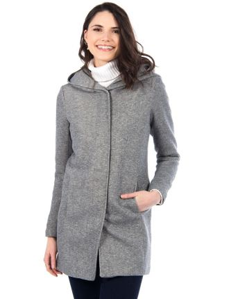 Manteau long à capuche par Only